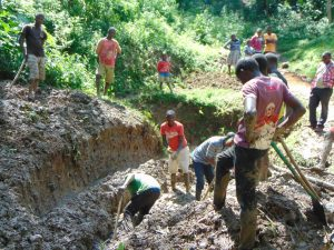 The Water Project:  Community Members Excavating The Site For Construction