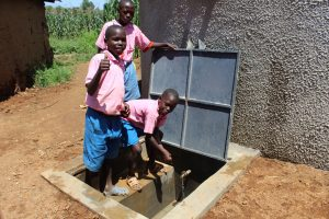 The Water Project:  Boys At The Rain Tank