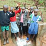The Water Project: Mutao Community, Kenya Spring -  Kids At The Spring