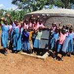 The Water Project: Irovo Orphanage Academy -  Students Celebrate The Rain Tank