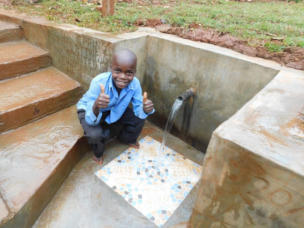 The Water Project : 31-kenya19130-thumbs-up-for-clean-water