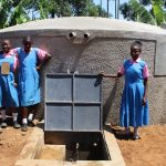 The Water Project: Irovo Orphanage Academy -  Girls At The Rain Tank