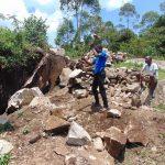 The Water Project: Bukhaywa Community, Shidero Spring -  Rock Breaking Laborers