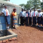 The Water Project: Ikumba Secondary School -  Students And Staff At The Rain Tank