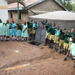 The Water Project: Makunga Primary School -  Happy Faces At The Rain Tank