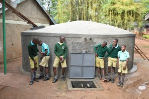 The Water Project:  Giggles At The Rain Tank