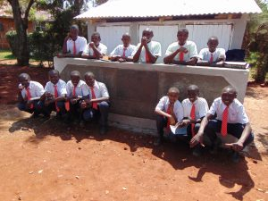 The Water Project:  Boys Pose With New Latrines