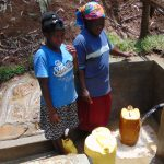 The Water Project: Shamiloli Community, Kwasasala Spring -  Flowing Water
