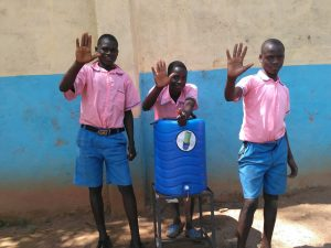 The Water Project:  Boys With Handwashing Station
