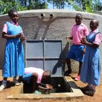 The Water Project: Irovo Orphanage Academy -  Students At Rain Tank