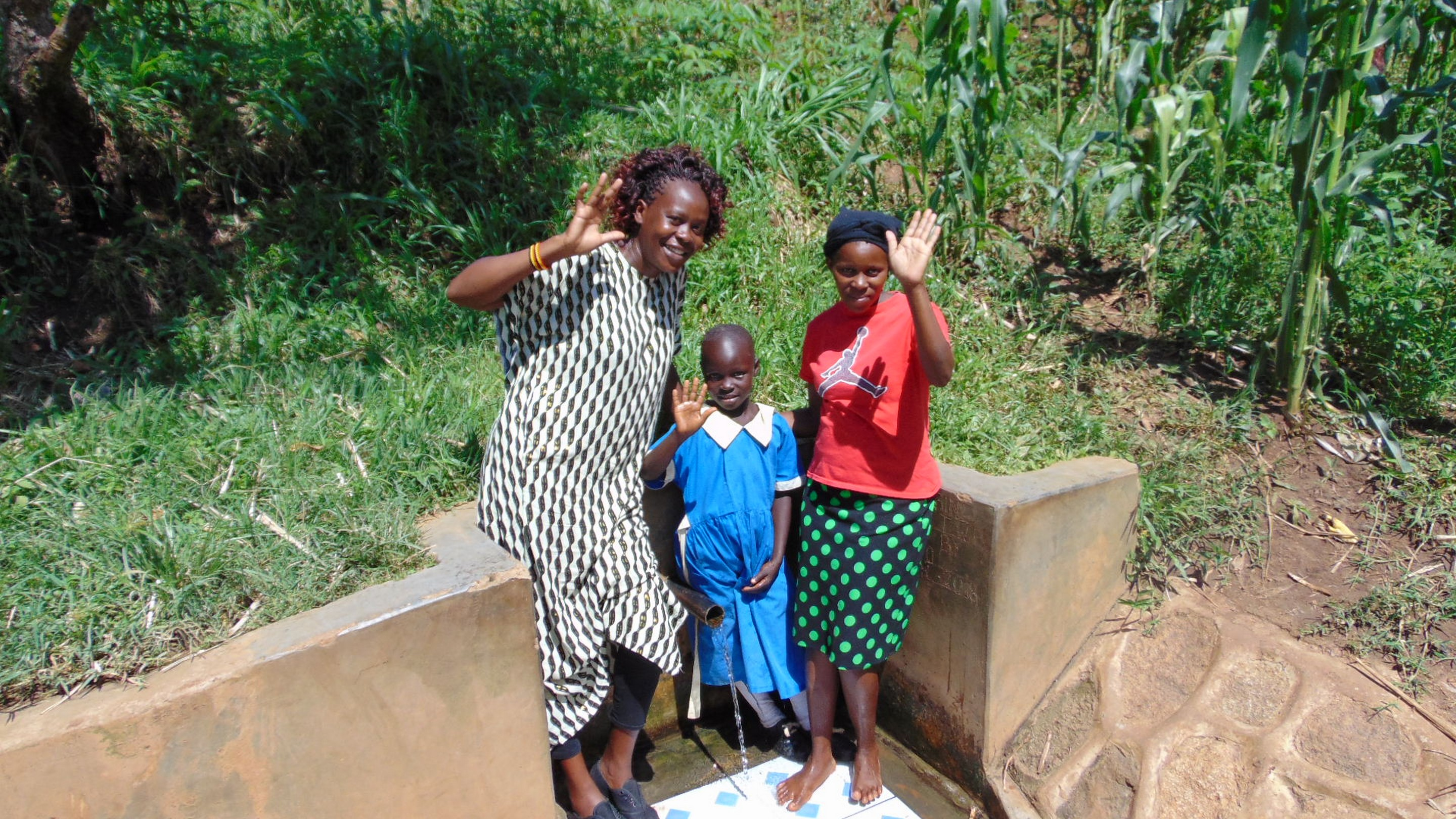 The Water Project : 4-kenay18108-field-officer-lillian-achieng-with-christine-and-margaret