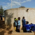 The Water Project: Kenneth Marende Primary School -  Students Fill Up At The Rain Tank