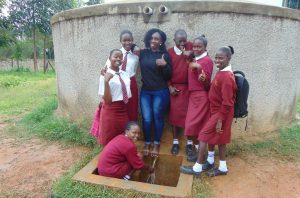 The Water Project:  Laura And Students At The Rain Tank
