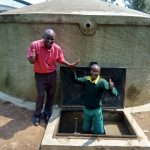 The Water Project: Jidereri Primary School -  Head Teacher Aggrey Maloha With Abraham