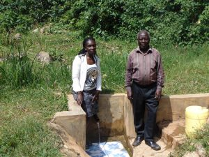 The Water Project:  Field Officer Laura Alulu With Mr Luvembe