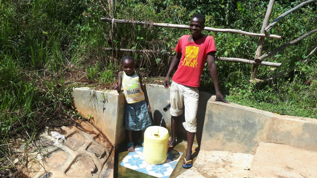 The Water Project : 4-kenya18099-dorine-and-kevin