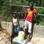The Water Project: Elukani Community, Ongari Spring -  Dorine And Kevin
