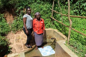 The Water Project:  Beatrice With Field Officer Laura Alulu