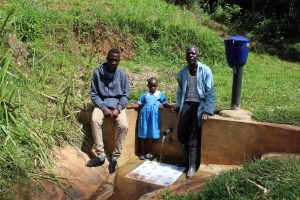 The Water Project:  Field Officer Ian Nakitare With Samuel And Natasha