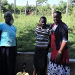 The Water Project: Ingavira Community, Laban Mwanzo Spring -  Ruth Rael And Field Officer Mary Afandi