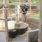 The Water Project: Elukho Community A -  Margaret At The Pump