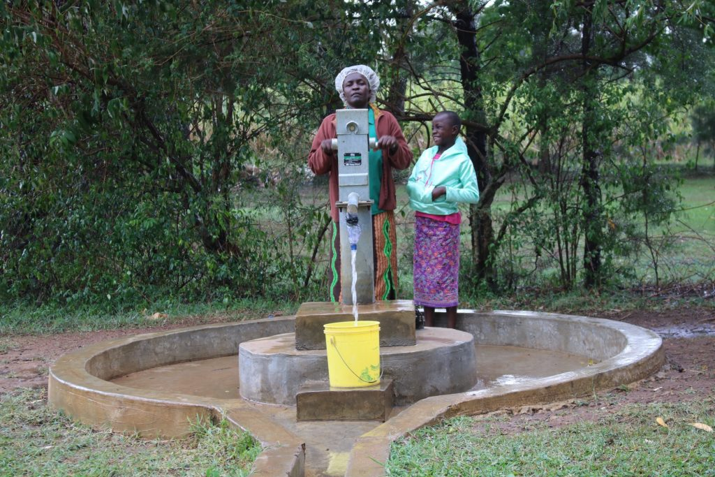 The Water Project : 4-kenya18285-alice-and-diana-at-the-well