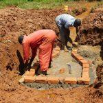The Water Project: Mutao Community, Kenya Spring -  Bricklaying Begins