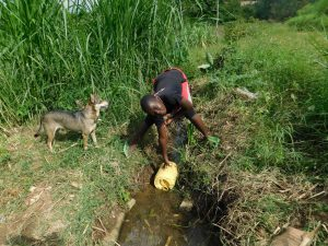 The Water Project:  Fetching Water In The Stream