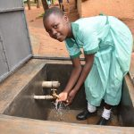 The Water Project: Makunga Primary School -  Flowing Water From The Tank