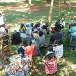 The Water Project: Mutao Community, Kenya Spring -  Field Officer Jacklyne Chelagat In Action