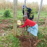 The Water Project: Mutao Community, Kenya Spring -  Handwashing Practice