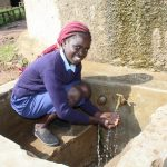 The Water Project: Shiru Primary School -  Flowing Water
