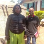 The Water Project: Samson Mmaitsi Secondary School -  School Administrator Hellen With Field Officer Georgina