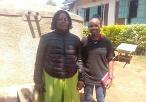 The Water Project:  School Administrator Hellen With Field Officer Georgina