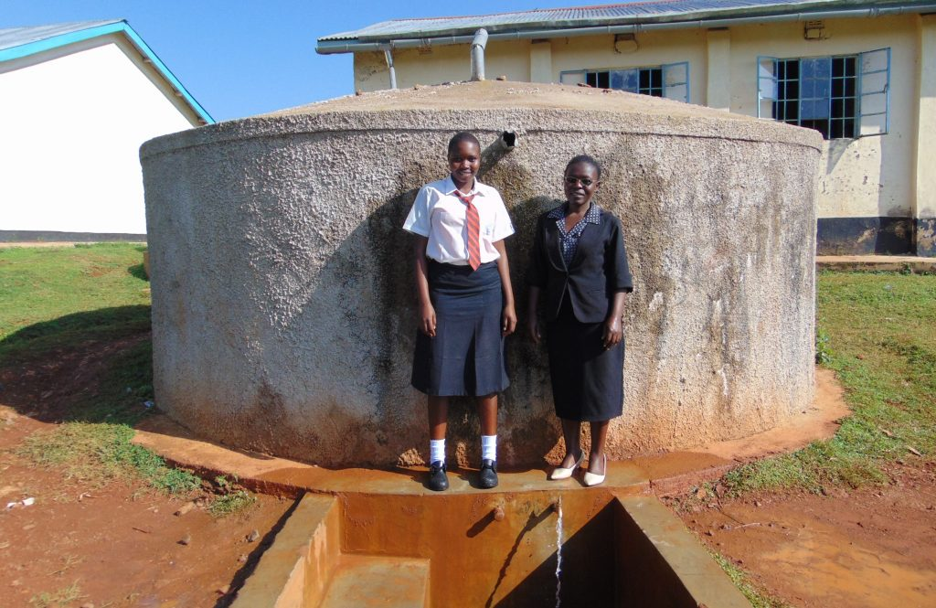 The Water Project : 5-kenya18026-barbra-and-josephine