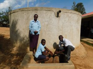 The Water Project:  Mrs Okech Dickson And Field Officer Wilson Kipchoge