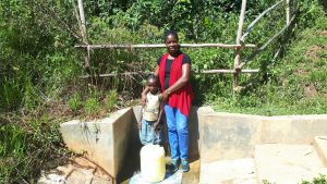 The Water Project:  Dorine With Field Officer Christine Masinde