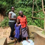 The Water Project: Jivovoli Community, Wamunala Spring -  Laura With Beatrice And Valentine
