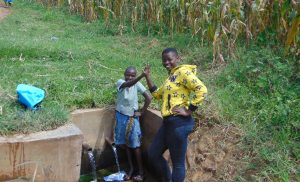 The Water Project:  Lucy With Field Officer Jemmimah Khasoha