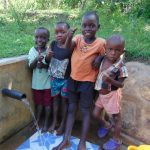 The Water Project: Mbande Community, Handa Spring -  Kids At The Spring