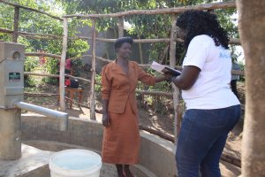 The Water Project:  Field Officer Terry Interviews Christine