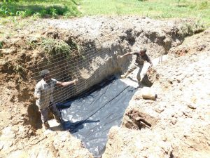 The Water Project:  Spring Foundation Is Laid