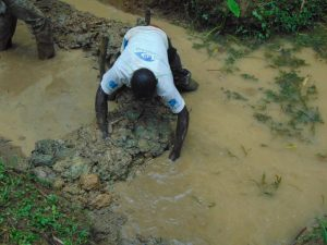 The Water Project:  Diverting Water From Source For Construction