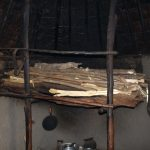 The Water Project: Kalenda B Community, Lumbasi Spring -  Firewood Drying Above Stove