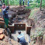 The Water Project: Buhayi Community, Nasichundukha Spring -  Brickwork Begins