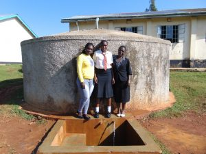 The Water Project:  Field Officer Laura Alulu With Barbra And Josephine