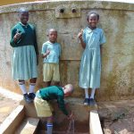 The Water Project: Shitaho Primary School -  Students At The Rain Tank