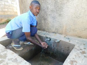The Water Project:  Alvine Kakai At Rain Tank