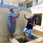 The Water Project: Eshisenye Girls Secondary School -  Principal Osore With Jacklyne High Five For Clean Water
