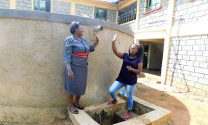 The Water Project:  Principal Osore With Jacklyne High Five For Clean Water